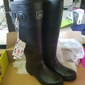 Joules tall rain boots